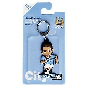 Manchester City Official Licensed football Buddies Football Keyring - Jesús Navas