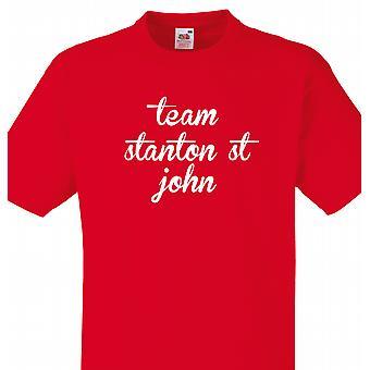 Team van Stanton st john Red T shirt
