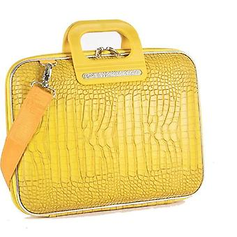 Bombata Bag Siena Cocco Briefcase for 13 Inch Laptop by Fabio Guidoni - Yellow