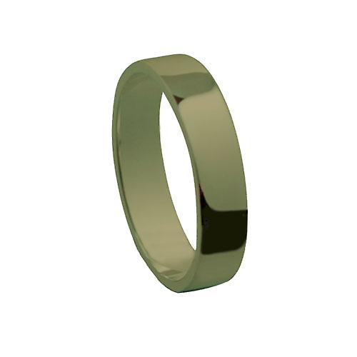 9ct Gold 4mm plain flat Wedding Ring Size P