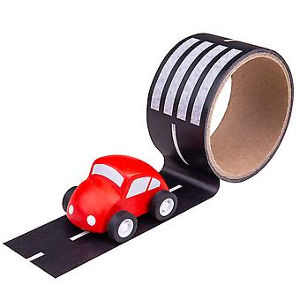 Bigjigs Toys Roadway Track Sticker Tape - Removable Track Cars Vehicle