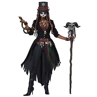 Voodoo Magic Witch Doctor Ritual Skeleton Day Of The Dead Womens Costume