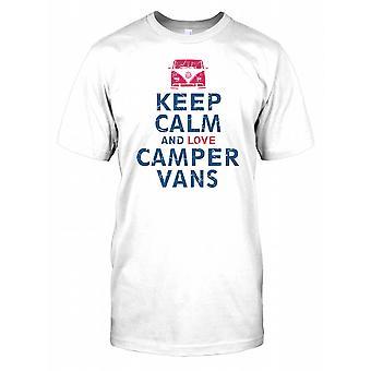 Zachowaj spokój i miłość Camper dostawczych dzieci T Shirt