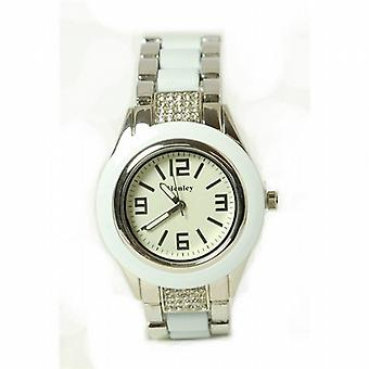 Henley Glamour Ladies Bling White Brac Strap Watch
