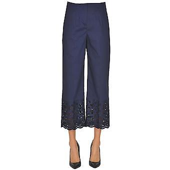 Seventy Blue Cotton Pants