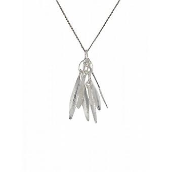 "Cavendish French Silver Feathers Pendant with 16 - 18"" Silver Chain"