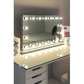 Diamond X Table Top Hollywood Makeup Mirror with Dimmable LED k413sCW