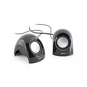 Shark SBOX USB Stereo Speaker - Black (SP-092B)