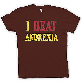 Herre T-shirt - jeg slå anoreksi - sjovt
