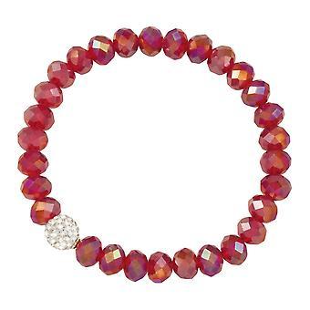 Wieczne kolekcji Majestic płomień czerwony kryształ Stretch paciorkami bransoletki