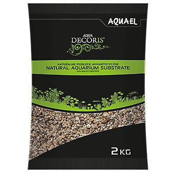 Aquael Grava Fina Natural para Acuarios 1.4-2Mm 2Kg