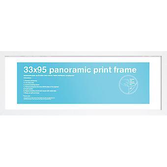 Eton hvit ramme panoramautsikt plakat / ut rammen