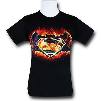 Batman Vs Superman Fire Symbol T-Shirt