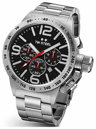 TW Steel Mens Canteen 45mm Chrono Stainless Steel CB7 Watch