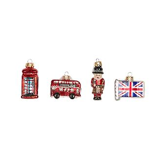 Sass And Belle London Set of 4 Baubles