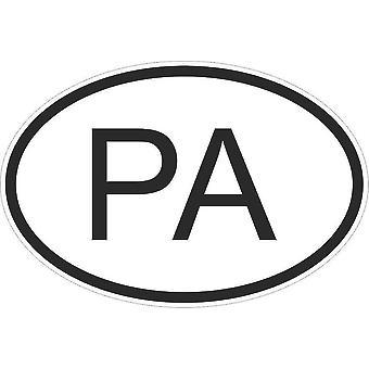 Autocollant Sticker Drapeau Oval Code Pays Voiture Moto Panama Panameen Pa