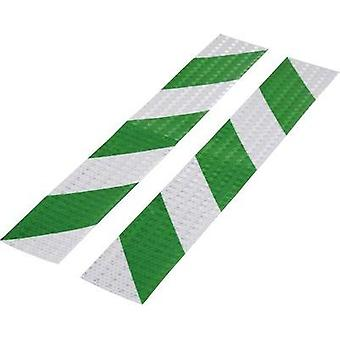 Warning stripe Conrad Components RTS Green, Silver (L x W) 400 mm x 60 mm Content: 2 pc(s)