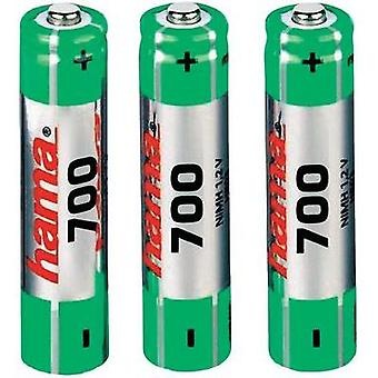 AAA battery (rechargeable) NiMH Hama HR03 700 mAh