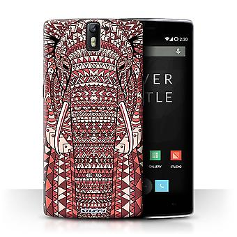 STUFF4 Case/Cover voor OnePlus One/olifant-rood/Azteekse dier