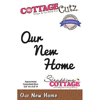 CottageCutz Expressions Die-Our New Home, .6