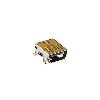 USB 2.0 connectors Socket, horizontal mount 2486 02 VP3 Lumberg