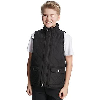 New Regatta Boy's Full Zip Sleeveless Bradley 2 Gilet Black
