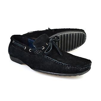 Gucinari SH1211/05 sort ruskind Herre afslappet kørsel sko
