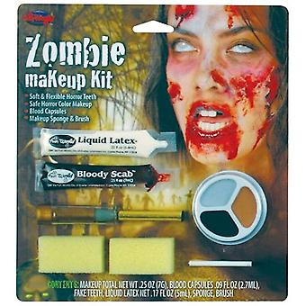 Zombie Womens Character Make Up Kit Fancy Dress Halloween Horror Walking Dead