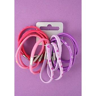 Pretty Pink and Lilac Hair bands - Value pack of 12