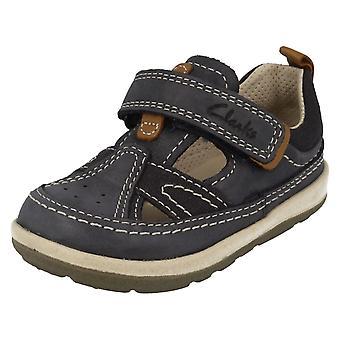 Spædbarn drenge Clarks lukket tå sandaler sagte Luke