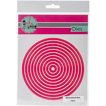 Pink And Main Dies-Stitched Circle, 10/Pk PNM061