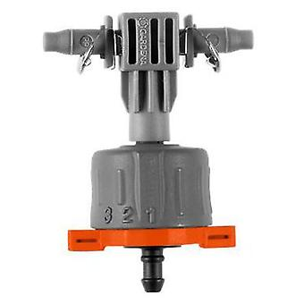 Gardena Adjustable linear regulator adjustable dropper presiónCaudal of 1-8 l / h with grading scale,