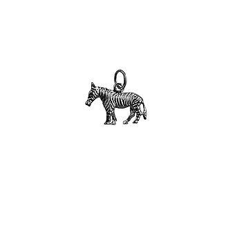 20x10mm Zebra Zilveren hanger of Charm