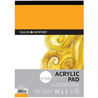 Daler Rowney simpelthen 115 lb Acrlic Pad A4
