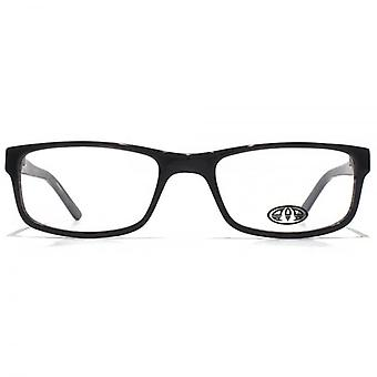 Animal Ashton Rectangle Acetate Glasses In Black On Streaky Grey