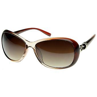 Designer Inspired High Quality Womens Oversized Oval  Sunglasses