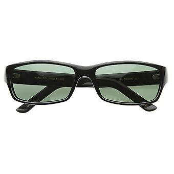 Basic Modern Casual Lifestyle Rectangle Sunglasses G-15 Lens