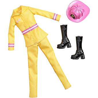 Barbie Fashion Dress Fire FIghter Barbie Doll Outfit