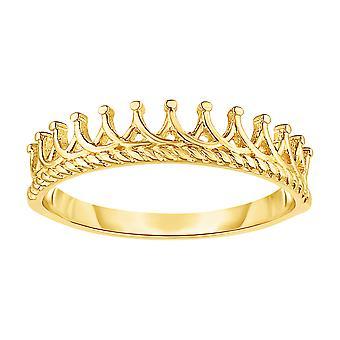 14K Gold Diadem Krone DesignRing, Größe 7