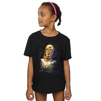 Star Wars Girls The Last Jedi C-3PO Brushed T-Shirt