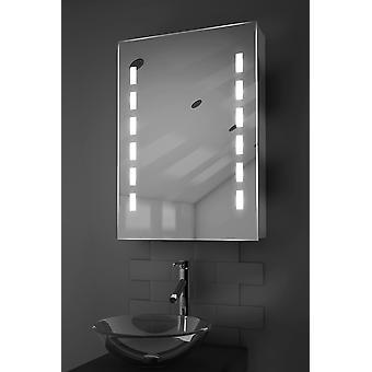 Kara LED Bathroom Cabinet with Demister Pad, Sensor & Shaver k355