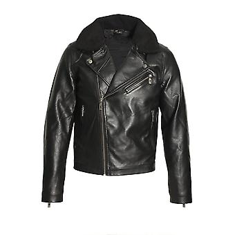883 POLICE Runell Faux Leather Jacket | Black