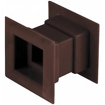 4pcs Mini Plaza aire ventilación puerta rejilla ventilación interna cubierta de color marrón