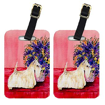 Carolines Treasures  SS8306BT Pair of 2 Scottish Terrier Luggage Tags