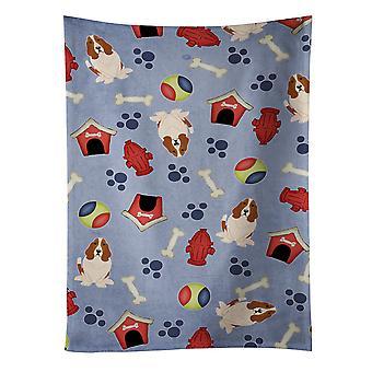 Carolines tesouros BB2634KTWL cachorro casa coleção Basset Hound toalha de cozinha