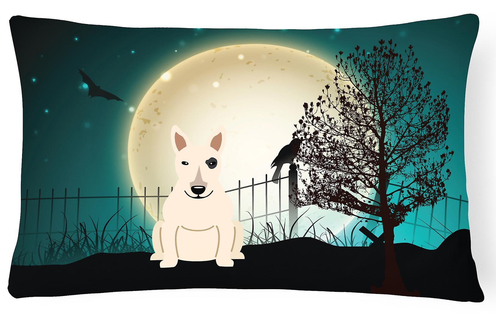 Halloween Bull Oreiller Toile Blanc Terrier Décoratif Tissu Effrayant 08nPkNwOXZ