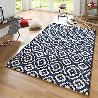 Design carpet Skandi dark blue cream | 102436