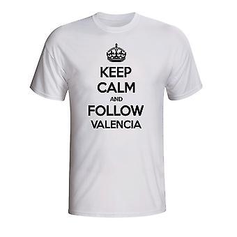 Zachowaj spokój i śledź Valencia T-shirt (biały)