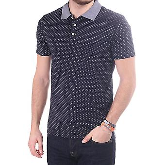 Scotch & Soda Jersey Polo With Contrast Collar In Spot Print