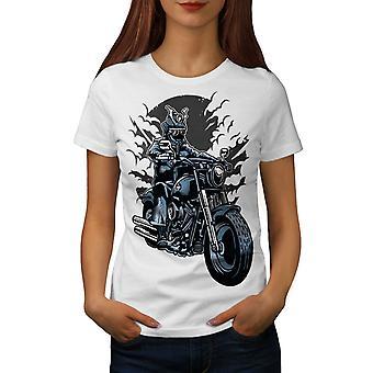 Cool Night Ride Women WhiteT-shirt | Wellcoda